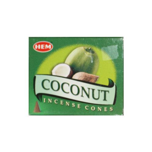 HEM Coconut Incense Cones, 25g (10 Cones)
