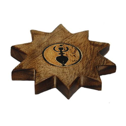 Goddess 'Star' Incense Holder (Wood)
