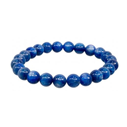 Blue Kyanite (Round Beads) Elastic Bracelet, 5-7mm