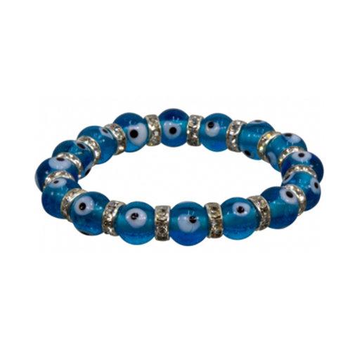 Evil Eye Bracelet, Aqua