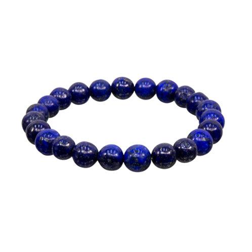 Lapis Lazuli (Round Beads) Elastic Bracelet - Multi Sizes
