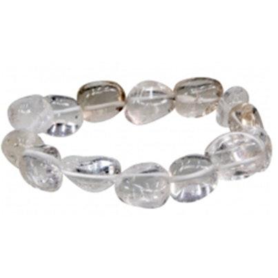 Clear Quartz Tumbled Stone Bracelet