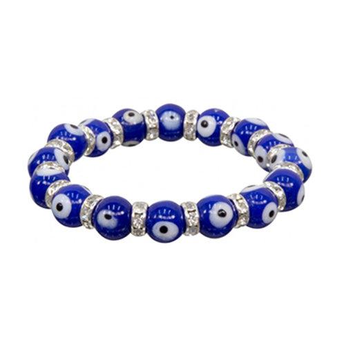 Evil Eye Bracelet, Cobalt