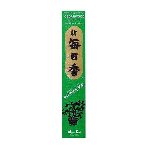 Morningstar Cedar Wood Incense Sticks (50 in Box)