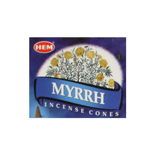 HEM Myrrh Incense Cones, 25g (10 Cones)