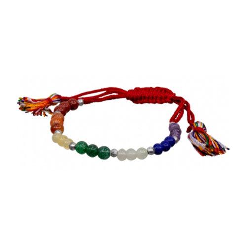 7 Chakras Gemstones Adjustable Bracelet