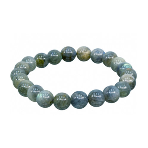 Blue Labradorite (Round Beads) Elastic Bracelet, 6-8mm