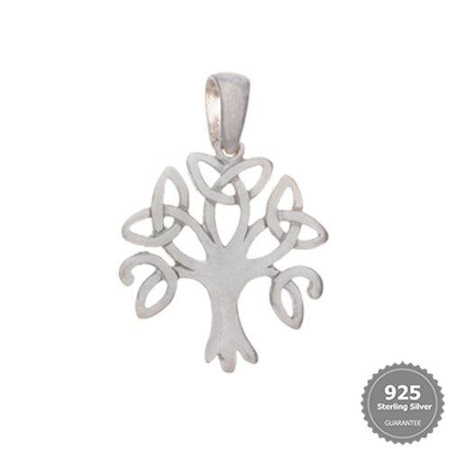 Celtic Tree Silver Pendant