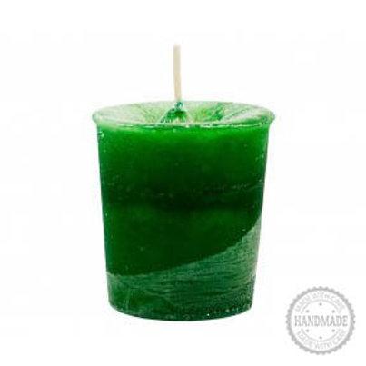 Heart Chakra Votive Candle (Green)
