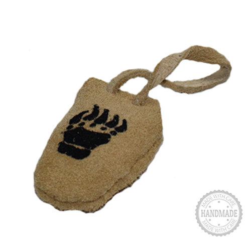 Bear Claw Suede Leather Medicine Bag
