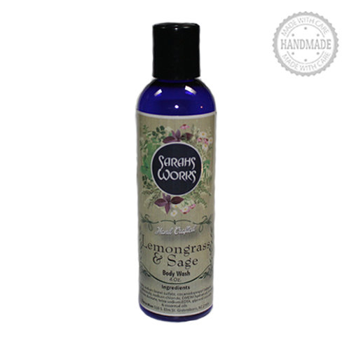 Lemongrass & Sage Body Wash 4 Oz.