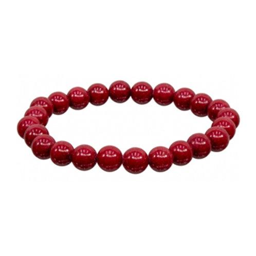 Mountain Jade (Round Beads) Elastic Bracelet, 8mm