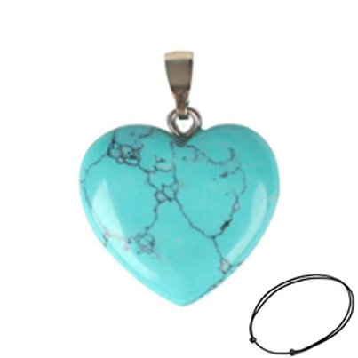 Dyed Howlite Heart Pendant Necklace