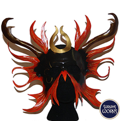 Lord of the Flames Leather Mask, Hand Made