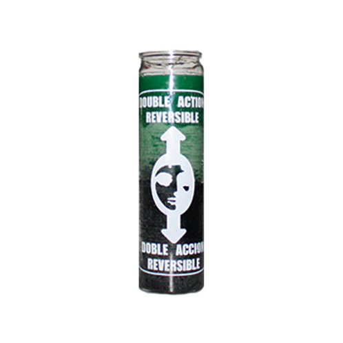Double Action Reversible 7 Day Candle (Green/Black)