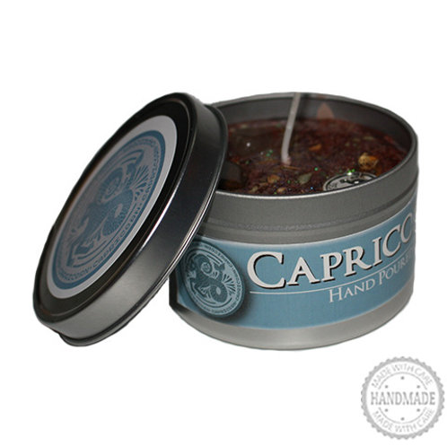 Capricorn Zodiac Hand Poured Candle in Tin - 2 Sizes