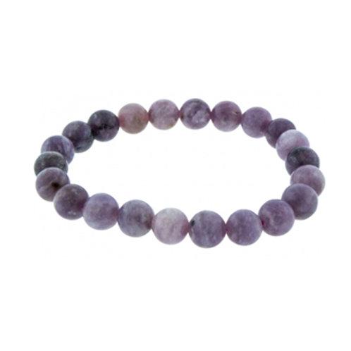 Lepidolite (Round Beads) Elastic Bracelet - Multi Sizes