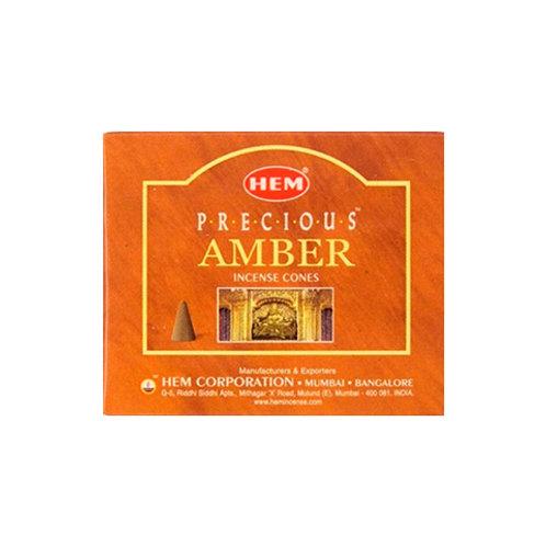 HEM Amber Incense Cones, 25g (10 Cones)