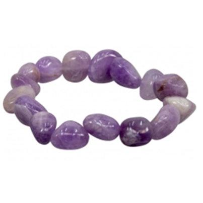 Amethyst Tumbled Stone Bracelet