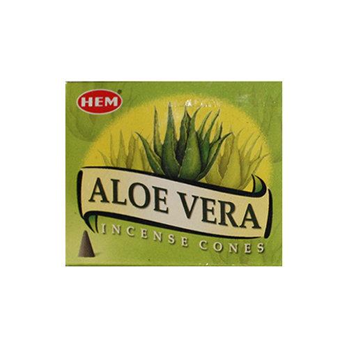 HEM Aloe Vera Incense Cones, 25g (10 Cones)