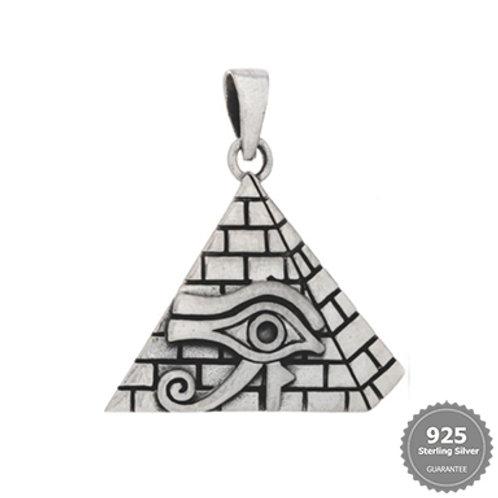 Eye of Horus/Pyramid Silver Pendant