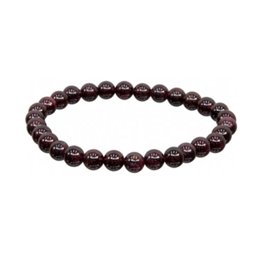 Garnet (Round Beads) Elastic Bracelet - Multi Size