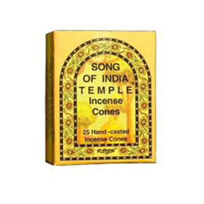 India Temple Cone Incense (25 Cones)