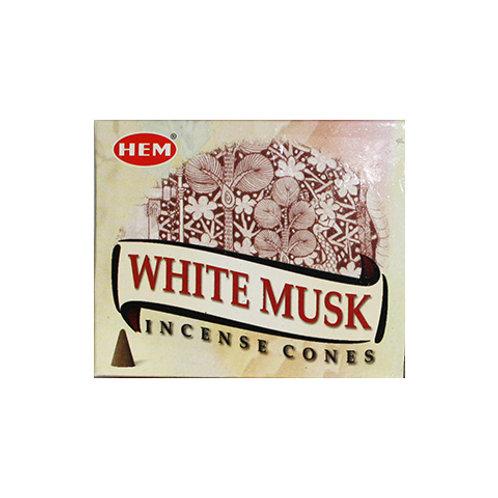 HEM White Musk Cone Incense, 25g (10 Cones)