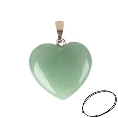 Aventurine Heart Pendant Necklace