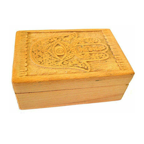 Hand of Compassion Wooden Carved Box