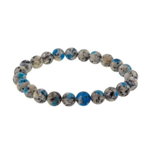 K2 Stone (Round Beads) Elastic Bracelet, 8mm
