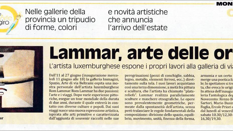 Lammar, arte delle origini: l'artista luxemburghese espone i propri lavori alla galeria di via B