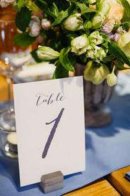 Bespoke table numbers