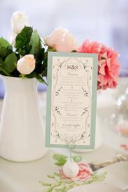 custom made menu for summer wedding