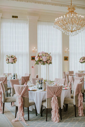Pink rose tall centrepieces