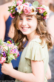 Rose flower crown and bouquet