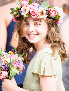 autumn flower crown and bouquet