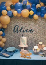 Bespoke balloon installation and sweet table