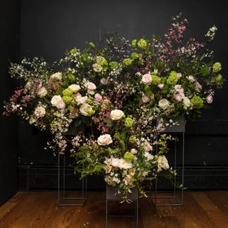 Spring wedding floral installation