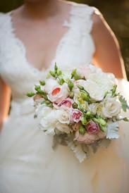 Mixed roses summer wedding bouquet