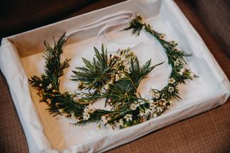 Winter flower crown and hair flowers in