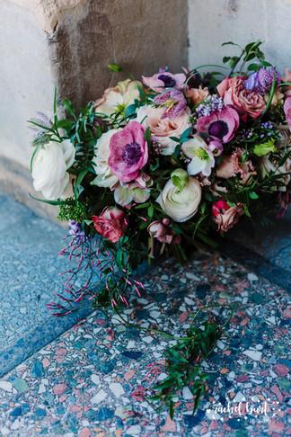 Jewel toned garden-style bouquet