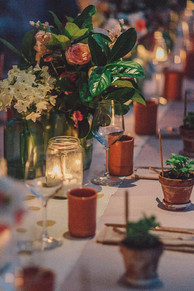 Rustic spring table styling