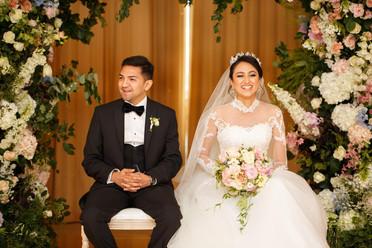 Luxury garden-inspired summer Asian wedding at The Grove