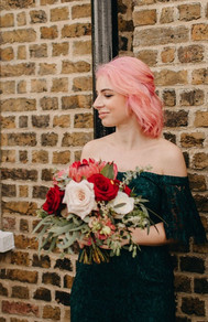 Blush and rich red bouquet