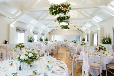 Luxury summer wedding in blush and white tones at Stoke Place.