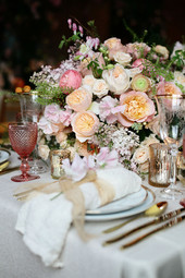 Luxury spring table garland