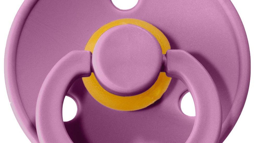 Bibs Set di 2 Ciucci Bibs Colour - Lavanda e Rosa Baby - Tettarella in Gomma Nat
