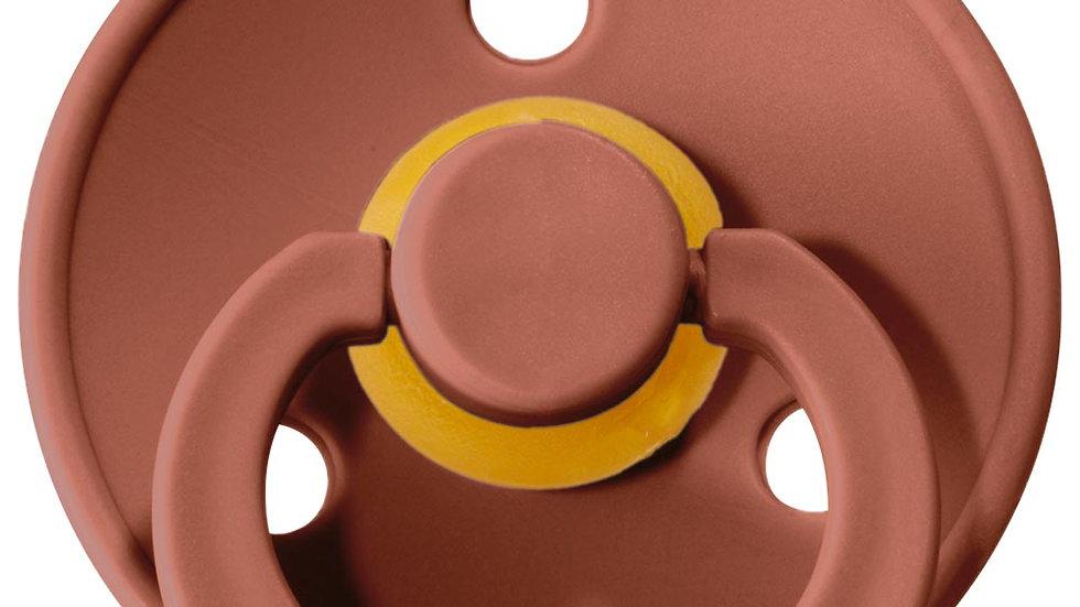 Bibs  Set di 2 Ciucci Bibs Colour - Rosso Mattone e Rosa Cipria