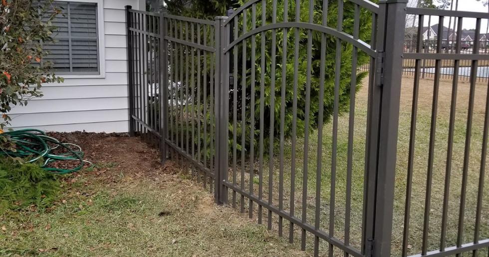 Bronze 3 Rail Aluminum with Arch Gates